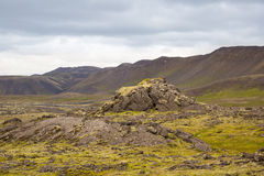 Panorama of Icelandic mountains Royalty Free Stock Image