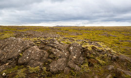 Panorama of Icelandic mountains Stock Images