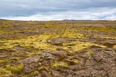 Panorama of Icelandic mountains Stock Image