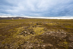 Panorama of Icelandic mountains Stock Photo