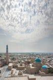 Panorama Ichan-Kala and minaret Islam-Hodge royalty free stock photos