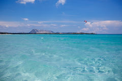 Panorama of idyllic beach with turquoise water Royalty Free Stock Photos