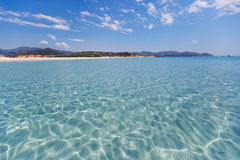 Panorama of idyllic beach with turquoise water Royalty Free Stock Photo