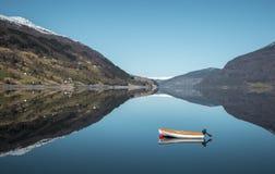 Panorama of idyllic norwegian nature stock photography