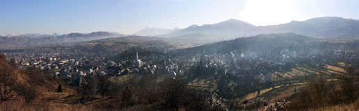 Panorama of Ieud Village, Maramures, Romania Stock Photos