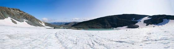 Panorama IGAN lodowiec Biegunowy Ural, Rosja zdjęcia royalty free
