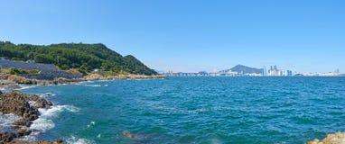 Panorama Igidae wybrzeże fotografia royalty free