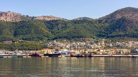 Panorama of the Igoumenitsa port in Greece. Thesprotia. Panorama of the Igoumenitsa port in Greece Royalty Free Stock Photography