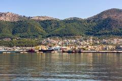 Panorama of the Igoumenitsa port in Greece. Thesprotia. Panorama of the Igoumenitsa port in Greece Royalty Free Stock Images
