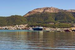 Panorama of the Igoumenitsa port in Greece. Thesprotia. Panorama of the Igoumenitsa port in Greece Stock Photos