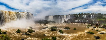 Panorama of Iguazzu falls. Showing hundreds of falls Stock Photo