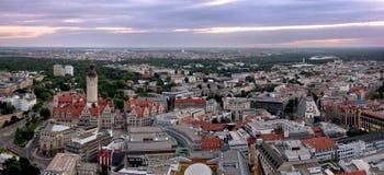 Panorama II de Leipzig photographie stock libre de droits