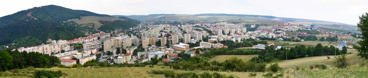 Panorama II de ville de Piatra Neamt images stock