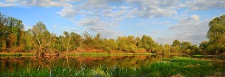 Panorama il fiume Fotografia Stock Libera da Diritti