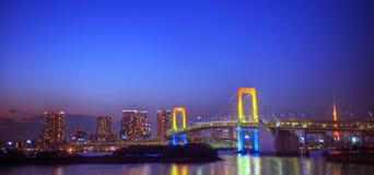 Panorama Of Illuminated Tokyo Night Concept Royalty Free Stock Image
