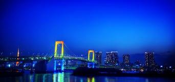 Panorama of illuminated Tokyo Night lights Concept Royalty Free Stock Photo