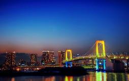 Panorama of illuminated Tokyo Night lights Concept.  Royalty Free Stock Photography