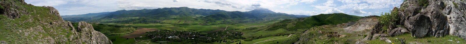 Panorama im Georgia-Himmelblauweiß stockfotografie