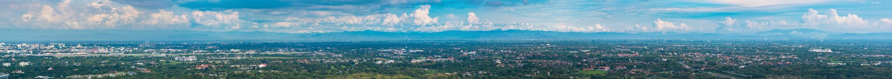 Panorama image of Chiang Mai province,Thailand. Stock Image
