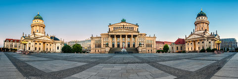 Panorama image of Gendarmenmarkt square in Berlin Royalty Free Stock Photo