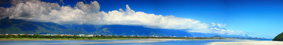 Panorama Image of Hualien, Taiwan Stock Images