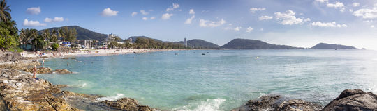 panorama image patong beach phuket thailand, beautiful beach in Royalty Free Stock Photography