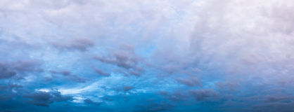 Panorama image of white cloud and sky on day time. Panorama image of white cloud and sky on day time for background usage Royalty Free Stock Image