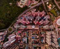 Panorama images of Hong Kong Cityscape view from sky Royalty Free Stock Image