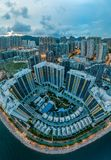 Panorama images of Hong Kong Cityscape view from sky Royalty Free Stock Photos