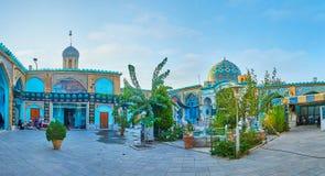 Panorama Imamzadeh Ahmad meczet, Isfahan, Iran Obrazy Royalty Free
