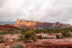 Panorama impressionante de Sedona, paisagem vívida do arenito vermelho de Arizona's Imagens de Stock