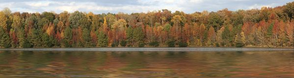 Panorama In Fall Royalty Free Stock Photography