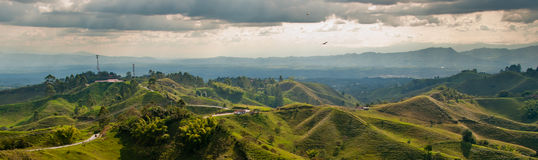 Free Panorama In The Coffee Triangle Region Of Colombia Stock Photography - 24096502
