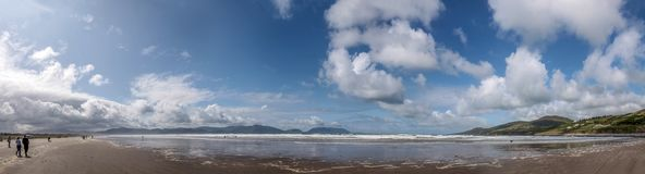 Panorama at Inch beach Stock Images