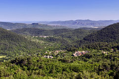 Panorama; Including Bargemon, Claviers, The Blavet Gorge, La Rocher De Roquebrune-sur-argents And The Med Royalty Free Stock Photos