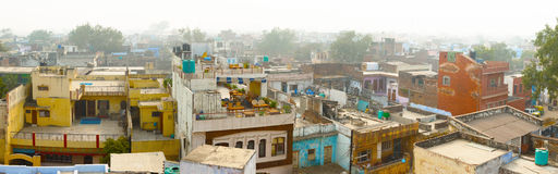 Panorama of indian city - Agra Royalty Free Stock Images
