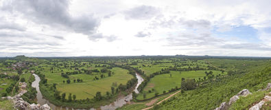 Panorama of Indian countryside Royalty Free Stock Photography