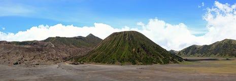 Panorama Indonésie de volcan de Bromo Photos stock