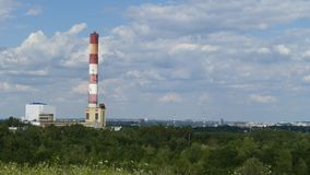 Panorama of industrial areas Silecia. Power Plant.Poland. stock photo
