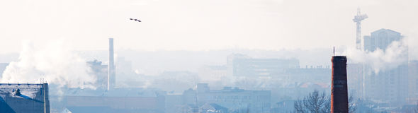 Panorama of the industrial city. Royalty Free Stock Photography