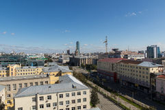 Panorama of the industrial city of Yekaterinburg, 10.09.2014 Royalty Free Stock Images