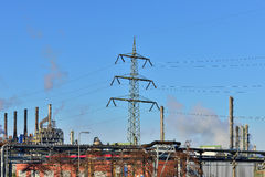 Panorama of industrial zone Stock Images