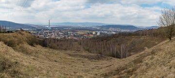 Panorama industriel de ville de Trmice Usti NAD Labem photo stock