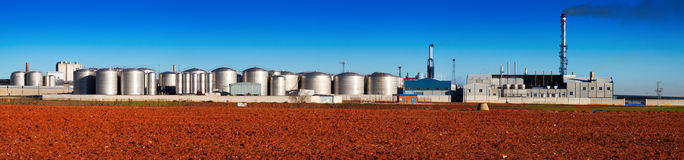 Panorama of industry plant Stock Photography