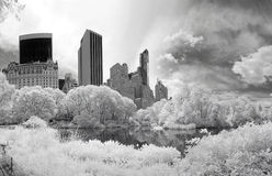 Panorama infrared image of the Central Park Royalty Free Stock Photo
