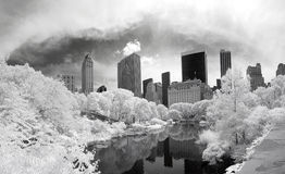 Panorama infrared image of the Central Park Royalty Free Stock Photography
