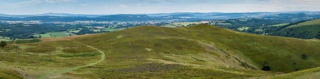 Panorama Inghilterra di Rolling Hills Fotografia Stock Libera da Diritti
