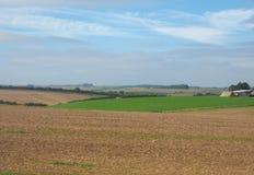 Panorama inglês do país em Salisbúria foto de stock