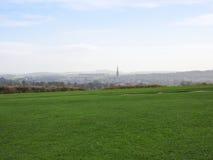 Panorama inglês do país em Salisbúria imagens de stock