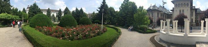Panorama inglese del parco, Craiova, Romania Fotografia Stock